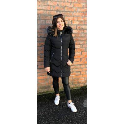 Alnwick Fekete Téli Kabát  (Vm613)