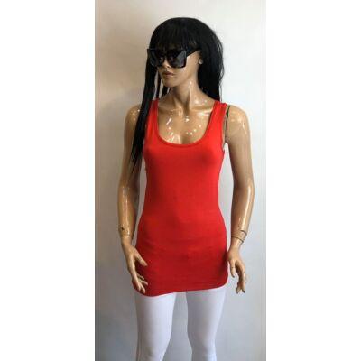 kiki Riki Piros Színű Trikó Hosszított Derékrésszel (Vm548)