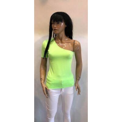 Kiki Riki Kerek Egyvállas Neon Green  Színű Felső (Vm1473)