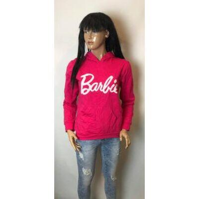 Pink Kapucnis Barbie Feliratos Pulcsi (Vm834)