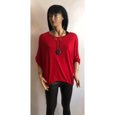 Női Kétrészes Piros Pulcsi (Vm388)