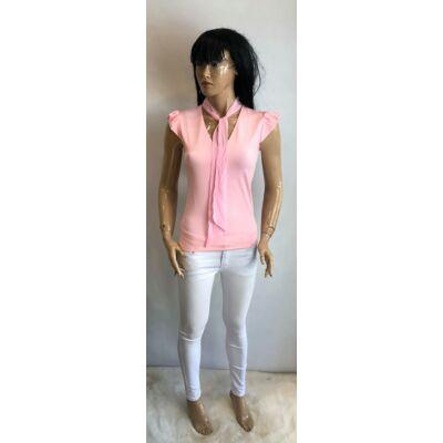 Kiki Riki V Nyakú Fodros Ujjas Sálas Pink Színű Felső (Vm1548)