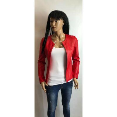 Piros Műbőr Kabát (Vm144)