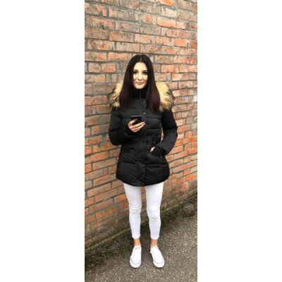 Bludeise Fekete Téli Kabát  (Vm736)