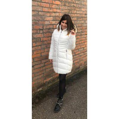 B Style Fehér Téli Kabát  (Vm6)
