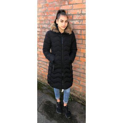 Moda Piu Fekete Téli Kabát  (Vm292)