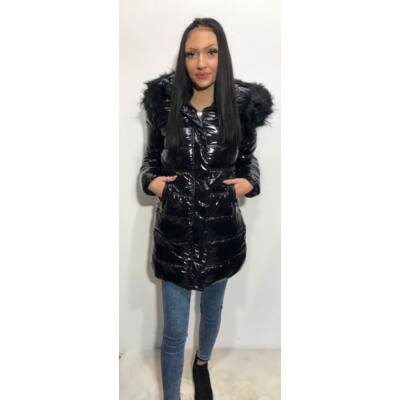 Bstyle Fekete Téli Kabát  (Vm726)