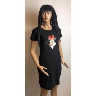 Fekete Szinű Miki Egeres Tunika Ruha (Vm1352)