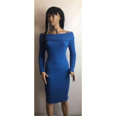 Victoria Vállra Húzhatós Kék  Ruha (Vm1003)