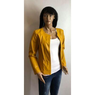 Mustár Műbőr Kabát (Vm1208)